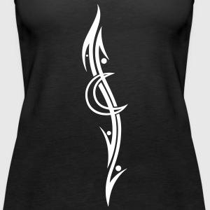 Tribal Tattoo moon, filigree - Women's Premium Tank Top