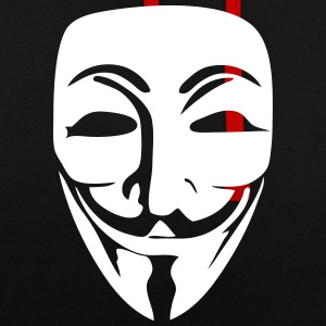 Anonymous Logo (Guy Fawkes Mask) Hoodies & Sweatshirts - Contrast Colour Hoodie