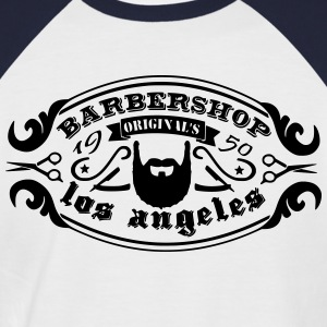 vintage logo barbershop 2 Tee shirts - T-shirt baseball manches courtes Homme