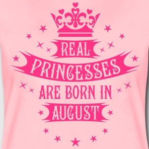 Real Princesses are born in August Princess T-Shir - Frauen Premium T-Shirt