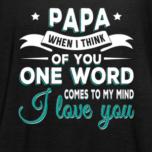 Papa i love you Tops - Frauen Tank Top von Bella