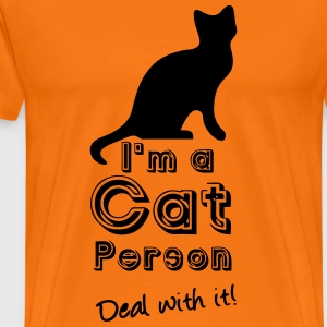 Cat Person T-Shirts - Men's Premium T-Shirt