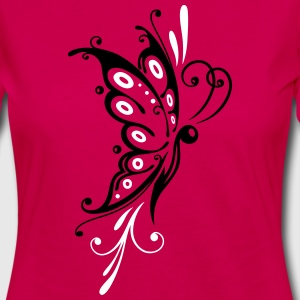 Big filigree butterfly, wings, girlie Tattoo style Long Sleeve Shirts - Women's Premium Longsleeve Shirt