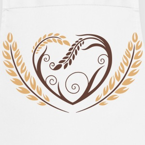 Big heart with cereals. Beautiful bakery motif.  Aprons - Cooking Apron