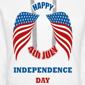 4th July America Independence Day Sweat-shirts - Sweat-shirt à capuche Premium pour femmes