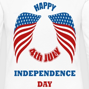 4th July America Independence Day Manches longues - T-shirt manches longues Premium Femme