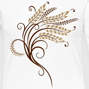 Filigree grain ears, baker, bakery. - Women's Premium Longsleeve Shirt