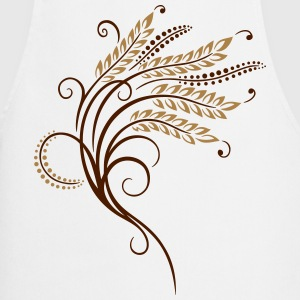 Filigree grain ears, baker, bakery. - Cooking Apron