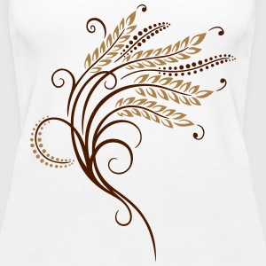 Filigree grain ears, baker, bakery - Women's Premium Tank Top