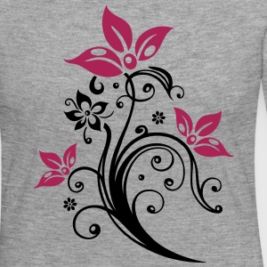 Flowers with filigree floral ornament. Feminine. Long Sleeve Shirts - Women's Premium Longsleeve Shirt