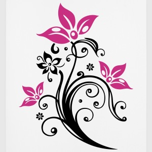 Flowers with filigree floral ornament. Feminine. Other - Mouse Pad (vertical)