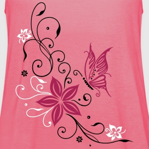 Flowers with filigree floral ornament. Feminine. Tops - Women's Tank Top by Bella