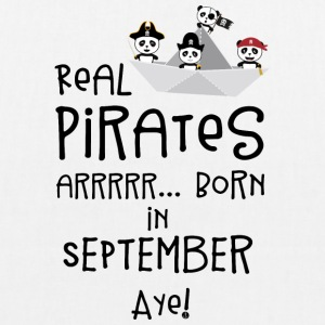 Real Pirates are born in SEPTEMBER Spwla Bags & Backpacks - EarthPositive Tote Bag
