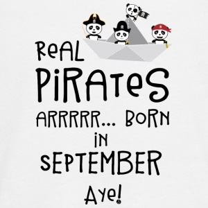 Real Pirates are born in SEPTEMBER Spwla Long Sleeve Shirts - Teenagers' Premium Longsleeve Shirt