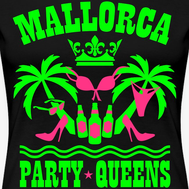 Mallorca Party Queens Malle Crew Palmen Bier T-Shirt