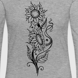Filigree sunflowers, cool summer motif. - Women's Premium Longsleeve Shirt
