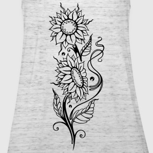 Filigree sunflowers, cool summer motif. - Women's Tank Top by Bella