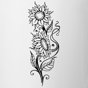 Filigree sunflowers, cool summer motif. - Mug