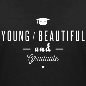 young and graduate T-Shirts - Women's V-Neck T-Shirt
