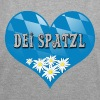 Dei Spatzl - Bavaria - Frauen T-Shirt mit gerollten Ärmeln