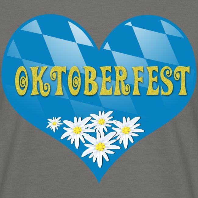 Oktoberfest Herz mit Edelweiß