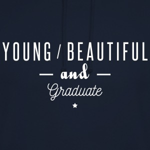 young beautiful graduate Tröjor - Luvtröja unisex
