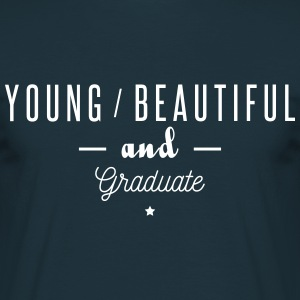 young beautiful graduate T-shirts - Herre-T-shirt