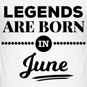 legends are born in june birthday saying T-Shirts - Men's Slim Fit T-Shirt