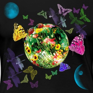 Little Fantasy World Butterflies Planet Galaxy T-S - Frauen Premium T-Shirt