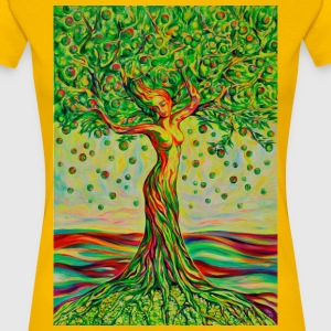 Tree of Life Lebensbaum GREEN APPLE Beauty T-Shirt - Frauen Premium T-Shirt