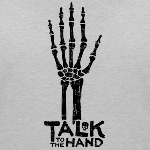 Talk to the Hand Damen T-Shirt - Frauen T-Shirt mit V-Ausschnitt