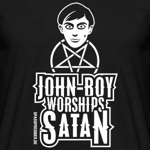 John-Boy worships Satan - Männer T-Shirt
