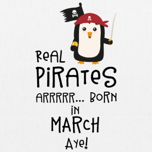 Real Pirates are born in MARCH Ssutv Bags & Backpacks - EarthPositive Tote Bag
