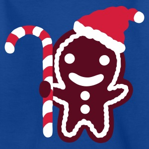 Royalblau lebkuchenmann santa Kinder T-Shirts - Teenager T-Shirt