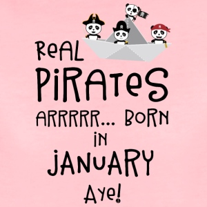 Real Pirates are born in JANUARY Sslix T-Shirts - Women's Premium T-Shirt
