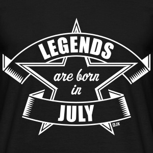 Legends are born in July (Cumpleaños / Regalo) Camisetas - Camiseta hombre