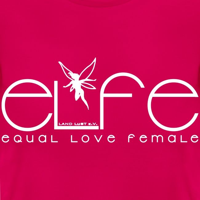 Damen T-Shirt elfe + Vielfaltslogo