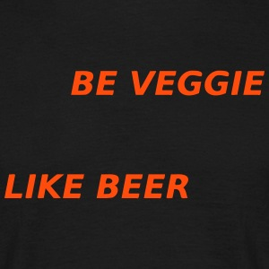 Vegetarier like beer T-Shirts - Männer T-Shirt