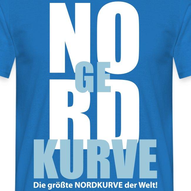 NO RD KURVE zweifarbiges Motiv weiß/hellblau - Männer