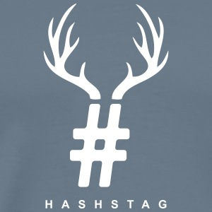 HashStag T-Shirt (white logo) - Men's Premium T-Shirt