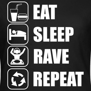 Eat,sleep,rave,repeat,festival t-shirt  - Frauen T-Shirt