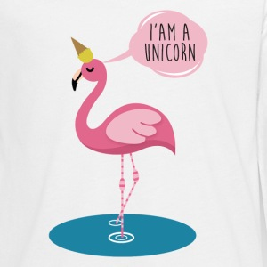 Flamingo Unicorn - I'am a Unicorn funny Shirt Langarmshirts - Teenager Premium Langarmshirt