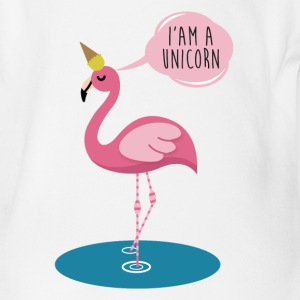 Flamingo Unicorn - I'am a Unicorn funny Shirt Baby Bodys - Baby Bio-Kurzarm-Body