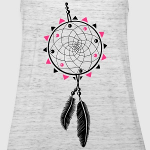 Dreamcatcher con sole e due piume. Top - Top da donna della marca Bella