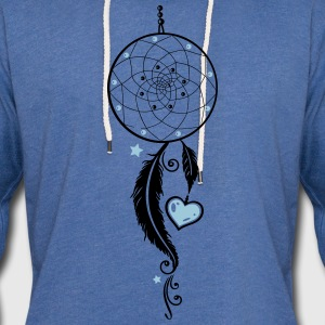 Dreamcatcher, coeur et aux plumes, style girlie Sweat-shirts - Sweat-shirt à capuche léger unisexe