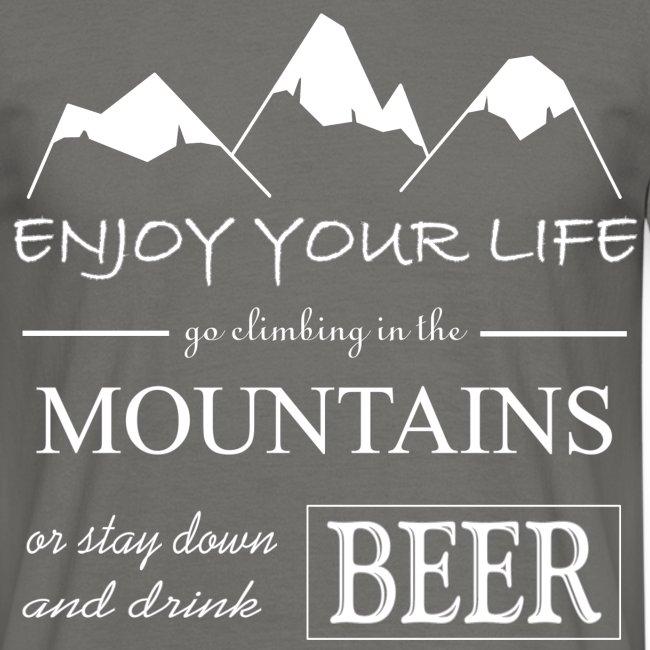 Bier und Berge Spruch