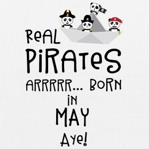 Real Pirates are born in MAY Sxdsj Bags & Backpacks - EarthPositive Tote Bag