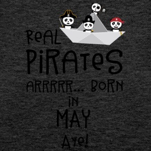 Real Pirates are born in MAY Sxdsj Tops - Women's Premium Tank Top