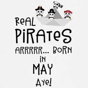 Real Pirates are born in MAY Sxdsj Baby Long Sleeve Shirts - Baby Long Sleeve T-Shirt