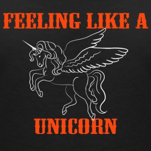 Feeling like a unicorn T-shirts - T-shirt med v-ringning dam